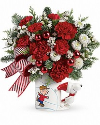 cupid-307-Bouquet-PEANUTS- Christmas-Mug 49,95$ / 59,95$