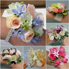 boutonniere corsage wedding day Cupidon Florist