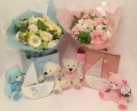 New baby flowers and gift at Cupidon Florist