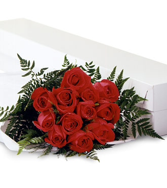 Dozen red roses in a box special delivery Cupidon Florist