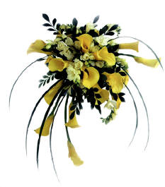 Cupid-201 Bridal bouquet, yellow colors