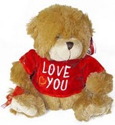 Plush puppy teddy bear Love You Cupidon Florist