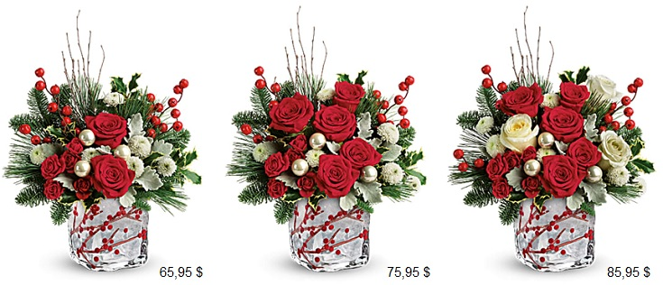 t18X600 Winterberry kisses bouquet Teleflora
